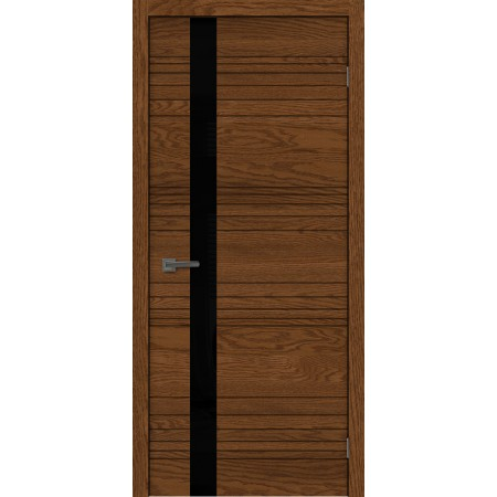 Дверь Сити-1 орех остекленная